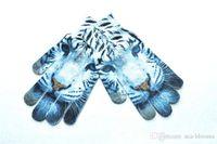 12 pantalla táctil al por mayor-Mujeres Hombres Dedo Completo de Invierno Cálido Guantes 12 Estilos Lindo 3D Print Animal Fruit Cat Punto de Pantalla Táctil Guantes de Regalo de Navidad H920Q