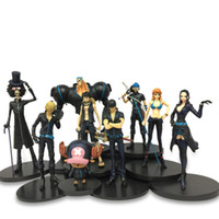 Wholesale luffy toys for sale - Group buy One Piece Nautical King Toys Theatrical Edition Gold City Black Clothes Model Gold Action Figure Luffy Sauron Shanji Boxed Figure