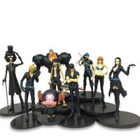 mala siyah altın toptan satış-Tek Parça Denizcilik Kral 9 Oyuncaklar Tiyatro Edition Altın Şehir Siyah Elbise Modeli Altın Action Figure Luffy Sauron Shanji Kutulu Şekil