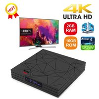 set box medya oynatıcı wifi toptan satış-Yeni Sıcak M9S W5 Set üstü TV Kutusu 2 GB RAM DDR3 16 GB Android 7.1 Amlogic S905W Dört çekirdekli CPU 2.4 GHz WiFi ROM 4 K Media Player Daha Iyi S905X2