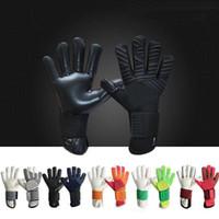 guantes xs al por mayor-Guantes de portero de fútbol profesional para niños adultos, hombres, guantes de fútbol sin protector de dedos