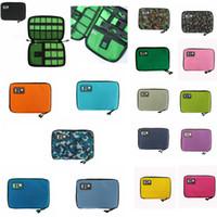 saco de unidade flash usb venda por atacado-16 estilos Saco Organizador de Cabo Grande Drives Flash USB sacos de armazenamento Viagem portátil fone de ouvido multi-Função saco de armazenamento à prova d 'água FFA2923