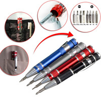 Wholesale multifunction screwdriver for sale - Group buy Multifunction In Mini Aluminum Precision Pen Screw Driver Screwdriver Set Repair Tools Kit For Cell Phone Hand Tool Set