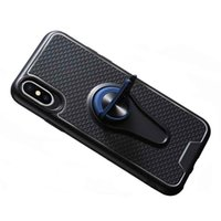Wholesale soft vents resale online - Car Air Vent Holder Case For iPhone XS X Soft Silicone Metal Stand Back Cover For iPhone Pro Max XR plus