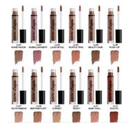 cores nu lingerie venda por atacado-Marca NYX lingerie líquido matte Batom à prova d 'água nude lip gloss maquiagem cosméticos partido presente 12 cores Em Estoque