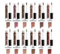 dessous nackt farben großhandel-Marke NYX Dessous flüssig matt Lippenstift wasserdicht nackt Lipgloss Make-up Kosmetik Party Geschenk 12 Farben Auf Lager