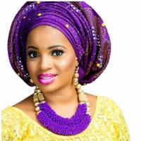 mücevher altın top seti toptan satış-Mor Güzel Takı Setleri Kadınlar Için Altın Renk Topları Afrika Set Takı Nijeryalı Düğün Boncuk Setleri Ücretsiz Nakliye 2018 Moda C18122701