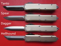 máquinas de manipulación al por mayor-De alta calidad CNC mecanizado MT UTX 85 UTX85 UTX-85 Estilo HellHound D2 Blade Aleación de aluminio Mango EDC Táctico Combate Defensa Cuchillo