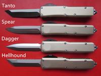 buck al aire libre cuchillos al por mayor-De alta calidad CNC mecanizado MT UTX 85 UTX85 UTX-85 Estilo HellHound D2 Blade Aleación de aluminio Mango EDC Táctico Combate Defensa Cuchillo