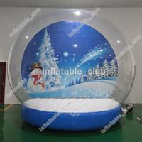 inflável anunciar ventilador venda por atacado-globo transporte neve livre para a venda personalizada globo de neve humana inflável para anunciar globos quintal neve do Natal com ventilador