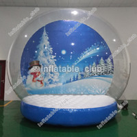 Wholesale advertising inflatables for sale resale online - snow globe for sale customized inflatable human snow globe for advertising Christmas yard snow globes with blower