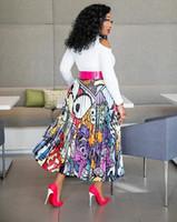 ingrosso velluto porcellana-Gonna africana per le donne Vestiti africani Africa non abito stampa Dashiki Abbigliamento donna Ankara Africa Women Dress Plus Size