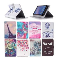 Wholesale acer iconia tablet inch online - Cartoon Printed Universal inch Tablet Case for Apple iPad Pro Cases kickstand PU Leather Flip Cover Case