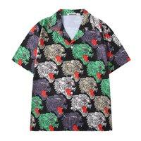 top camisa de algodón para hombre al por mayor-High New Novelty Men Full Angry lobo Moda Algodón Camisas casuales Camisa de alta calidad de bolsillo de manga corta Top S 2XL # SN7