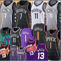 maillots de basket en polyester achat en gros de-7 Kevin Durant Kyrie NCAA 11 Irving Jersey College Devin 1 Booker Steve Nash Jersey 13 2019 New Jersey Basketball à bas prix de gros