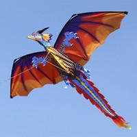 drachenfliegen spielzeug groihandel-140cx120cm Klassische 3D-Drachen Kite Einzellinie mit Endstück mit Handgriff und Linie Gut fliegenden Drachen Von Hengda Spielzeug für Kinder Erwachsene