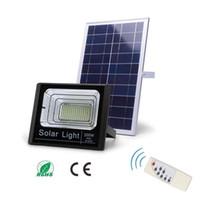 luz de inundación ip67 al por mayor-Luces de inundación de calle alimentadas con energía solar de 200 vatios 400LED impermeable al aire libre IP67 con control remoto Iluminación de seguridad para jardín Piscina