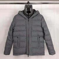 ingrosso cappotti di lana di mens grigio-2019 Luxury Mens Designer Wool Brand Blends Giacche invernali Casual Cappotti grigi Tenere al caldo Moda Giacca a vento Cappotti esterni 9964CE all'ingrosso