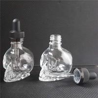 garrafa de vidro vazia e venda por atacado-15 ml 30 ml vape líquido frascos de vidro suco transparente e cigarro vazio olho conta-gotas frascos para óleo essencial DHL