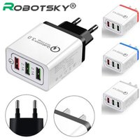 Wholesale android tablet gray for sale - Group buy Universal USB Charger Port Quick Fast Charge Travel Adapter Wall Charger Adapter Portable EU Plug For iPhone Android Tablet