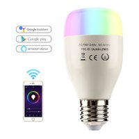 Wholesale Leadleds WiFi Smart LED Bulb E27 W AC110 V lamp LED Dimmable light Bulb Remote Control Led Spot Light Works With Alexa Google Home