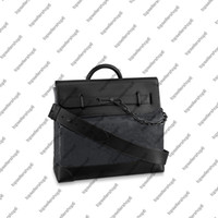 M44731 STEAMER Men purse handbag Messanger Canvas embossed letter flower print Shoulder bag Top handle business briefcase portfolio attache
