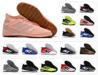 Wholesale blue tango shoes resale online - Hot Predator Tango TF IC Indoor Paul Pogba PP Turf High Ankle New Arrival Mens Soccer Shoes Football Boots Cleats Size