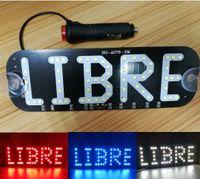 sigara emici fincan toptan satış-DC 12 V LED Sürüş LIBRE Burcu Cam Kabin Işık Taksi Vantuz ile Boş araba Gösterge ışığı Disk Çakmak