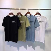 hochwertiges frauen t-shirt großhandel-AMBUSH T-Shirt 1a: 1 Qualität Männer Frauen 4 Farbe New Arrived Top Tees AMBUSH T-Shirt