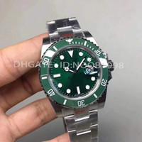 v8 negro al por mayor-Relojes de lujo superior V8 904L 116610LN ETA 2836 reloj mecánico automático del marco negro de cerámica reloj de buceo luminosa