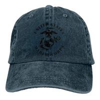 chapeaux de marines achat en gros de-2019 Nouveau Designer Casquettes de baseball États-Unis Marine Corps Eagle Globe Hommes Coton Réglable Lavé Twill Casquette De Baseball Chapeau