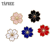 Wholesale enamel flower brooches for sale - Group buy Japanese Style Colorful Sakura Flowers Lapel Pins Enamel Plant Brooches Alloy Badge for Bag Hat Jeans Shirt Collar Clips