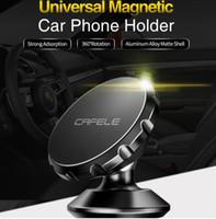 mıknatıs dönüşümü toptan satış-Evrensel Manyetik Araç Telefonu Tutucu 360 Rotasyon GPS Cep Telefonu Mıknatıs dağı Iphone Samsung Tablet Için Araç Tutucu Standı