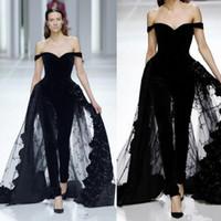 Wholesale size 28w special occasion dresses for sale - Elie Saab Evening Dresses Jumpsuits Off Shoulder Overskirts Tulle Lace Dress Prom Dresses Special Occasion Wears Robes De Soirée