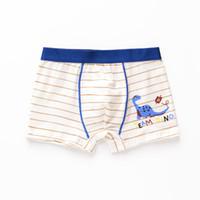 meninos cueca branca venda por atacado-3 Pcs Lot Meninos de impressão Branco cueca boxers Moda Infantil crianças cueca Adequado para 2 a 12 anos de idade meninos fina e plana calcinha S19JS132
