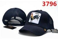 boné de beisebol personalidade venda por atacado-boné de beisebol personalizado com hip-hop personalidade da moda de rua de alta qualidade estilo de moda animal chapéu do galo