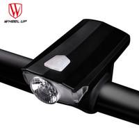 mini projecteur achat en gros de-WHEEL UP Vélo Lumière Vélo Étanche IPX4 Phare USB Rechargeable Mini Anti-éblouissement XPE Lampe Perles Floodlight Vélo Lumière # 106704