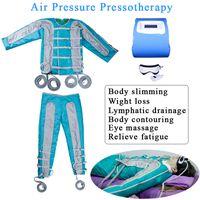 pressotherapie lymphdrainage maschine großhandel-Tragbare Pressotherapy-Lymphentwässerungs-Maschine 24 Luftbeutel-Luftdruck Pressotherapy-Körpermassage-Körper-Detox-Körper, der für Salon-Gebrauch abnimmt