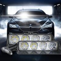 zoll-blaue nebelscheinwerfer großhandel-24 LED Auto Lichtleiste Auto LKW Strobe Flash Spotlight Arbeitslicht Notfall Warnleuchten 12V ATV SUV Boot LKW Offroad