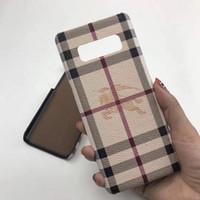 olgu resimleri toptan satış-Samsung S8 S9 için lüks Telefon Kılıfı S9plus S10 S10plus Note9 Deri resim Desen Baskı Tasarımcı Telefon Kılıfı için iPhone X Xs Max 8 Artı