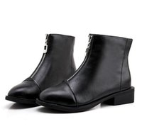 chaussures en caoutchouc femmes achat en gros de-Slip On Bande Élastique Bottes En Caoutchouc Hiver Arrivée Bottines Femmes Chaussures Automne Talon Carré Femme Chaussures