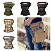 Wholesale tactical art resale online - Tactical Waist Bag Unisex Canvas Outdoor Camping Cycling Waistpack Sports Leg Bag Outdoor Bags Traveling Hip Bags Colors CCA11764