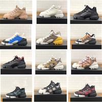 laufende schuhe schnüren sich oben groihandel-Luxuxfrauen Designer Connect Sneaker in Mehrfarbige Neopren-Plattform Lace-up Rennen Retro Trainers Mädchen Vintage Schuhe Höhe 5CM US11