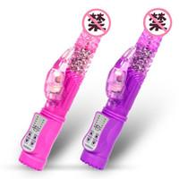titreşimli yetişkin seks oyuncakları toptan satış-Klitoris G-Spot Yunus Titreşim Rotasyon Vibratör Kadınlar 12 Hızları Kadın Mastürbasyon Yetişkin Oyunu için Su Geçirmez Seksi Titreşimli Seks Oyuncakları
