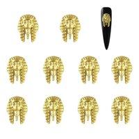 suministros de herramientas de manicura al por mayor-10 Unids Oro Uñas de Aleación de Metal Diseño Rhinestones 3D Rivet Manicure Studs Nail Charm Stud Herramientas de manicura DIY Nail Rivets Supply