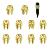 rivets d'alliage de rhinestone achat en gros de-10pcs or alliage métallique ongles design strass 3D rivet goujons manucure ongles charme goujon outils de manucure ongles rivets offre