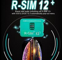 r sim carte micro achat en gros de-Carte de déverrouillage R-SIM12 + R-SIM 12+ R sim12 + RSIM12 + R SIM 12+ RSIM 12 Pour iphone xs max IOS12.2 IOS12.3 Déverrouillage iccid sim