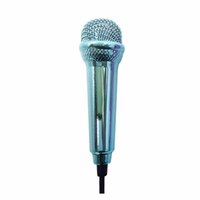 микрофон для караоке-микрофона оптовых-Portable Mini 3.5mm Wired Microphone for Mobile Phone Tablet PC Laptop Speech Sing Karaoke For IPhone Aluminum Alloy Microphone