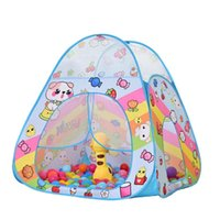 палатки типе оптовых-Складная Палатка Baby Play Teepee детские Игрушки Палатка Мультфильм Палатка Дом Игры Ползать Туннель Ocean Ball Бассейн Игрушки Для Детей