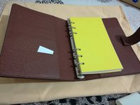 Wholesale pocket books sale resale online - Famous Brand Agenda Note BOOK Cover Leather Diary Leather with dustbag and box card Note books Hot Sale Style silver gold ring